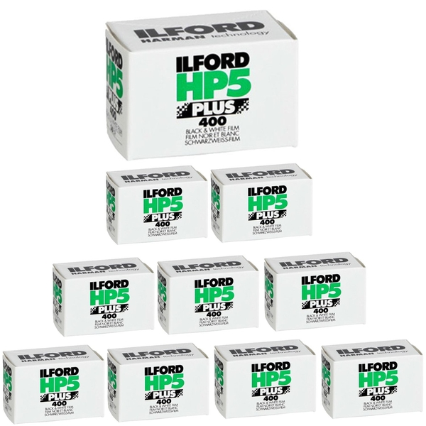 Kit de 10 films noir & blanc HP5 Plus 400 135 - 36 poses