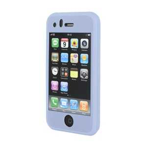 Housse silicone bleue pour iPhone (RUBIPHONE3GBLUE)